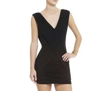 BCBG tight Cocktail Dress with loose wrap detail
